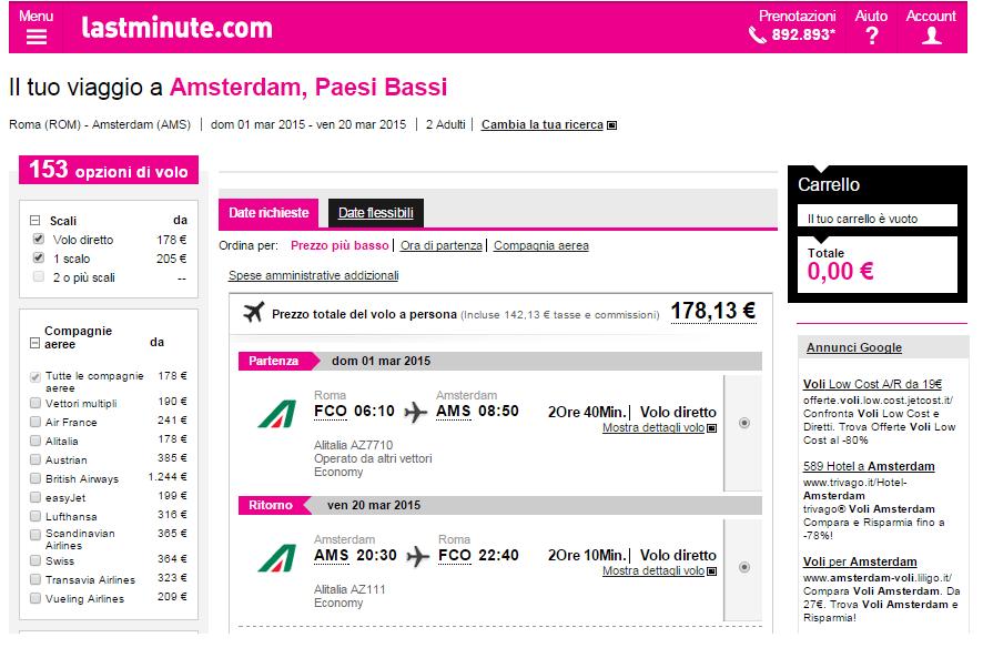 Che temperature a amsterdam in marzo offerte volo for Weekend a amsterdam offerte