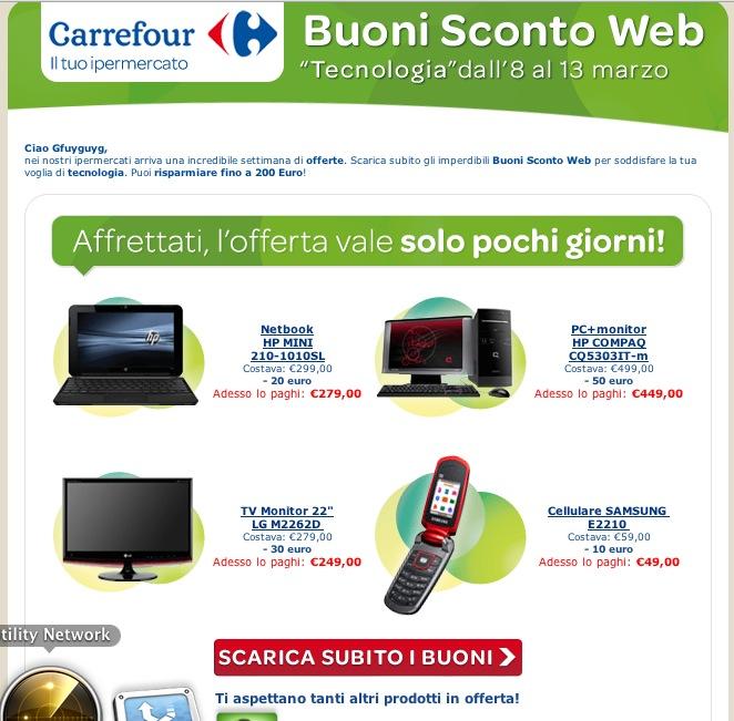 Buoni Sconto Carrefour: 200 Euro Gratis