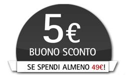 Risultati immagini per 5 euro sconto