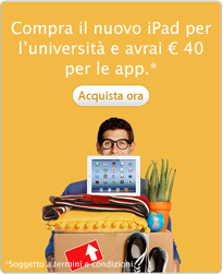 Sconti studenti universitari apple